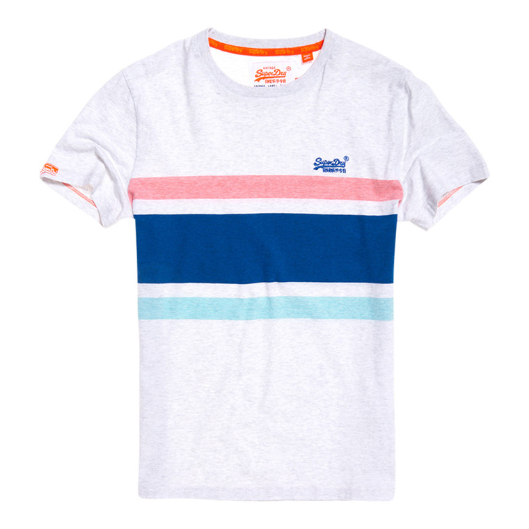 Superdry Orange Label Hardwick Stripe T-Shirt