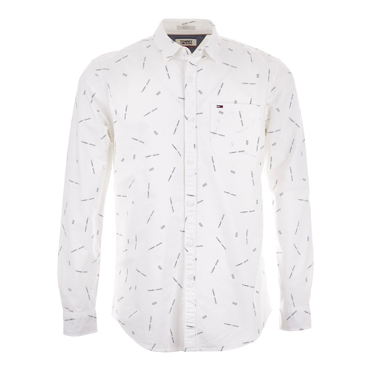 Tommy Jeans Printed Oxford Skjorte