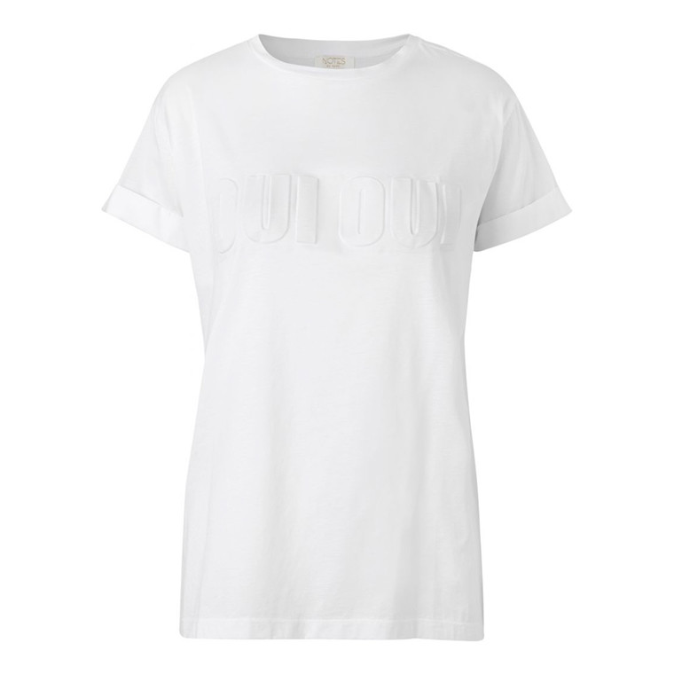 Notes Du Nord Hoop Embossed T-shirt