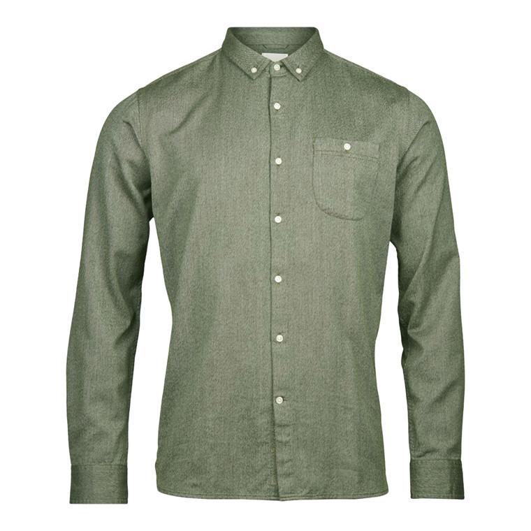 Knowledge Cotton Melange Twill Skjorte