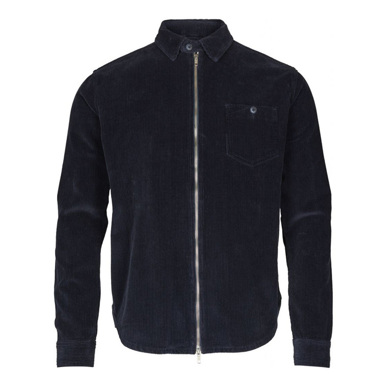 Knowledge Cotton Cord Zip Skjorte