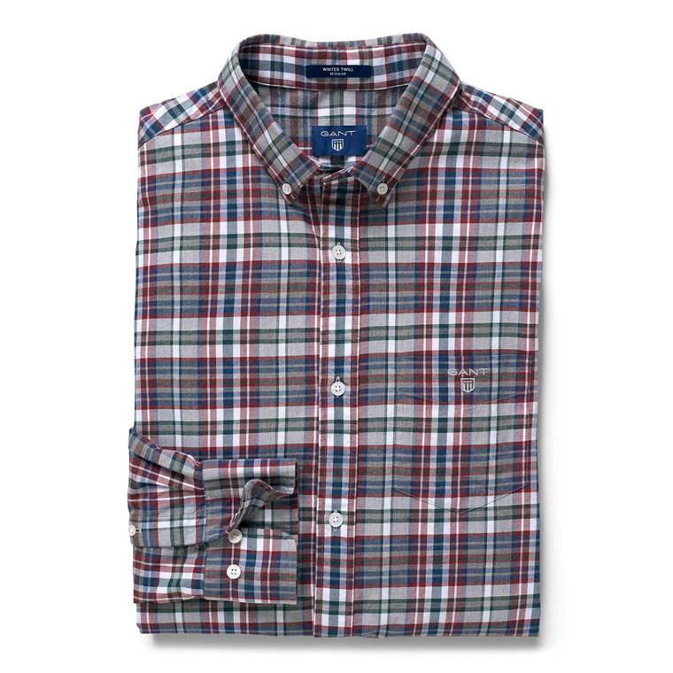 Gant Regular Winter Twill Melange Plaid Skjorte
