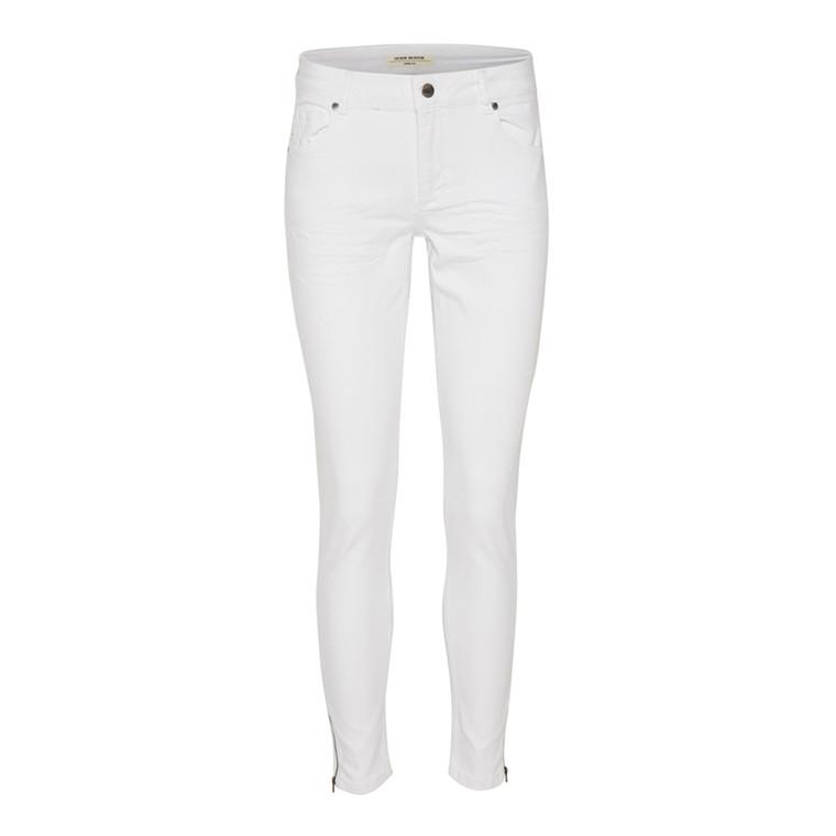 Denim Hunter Celina White Zip Custom Jeans