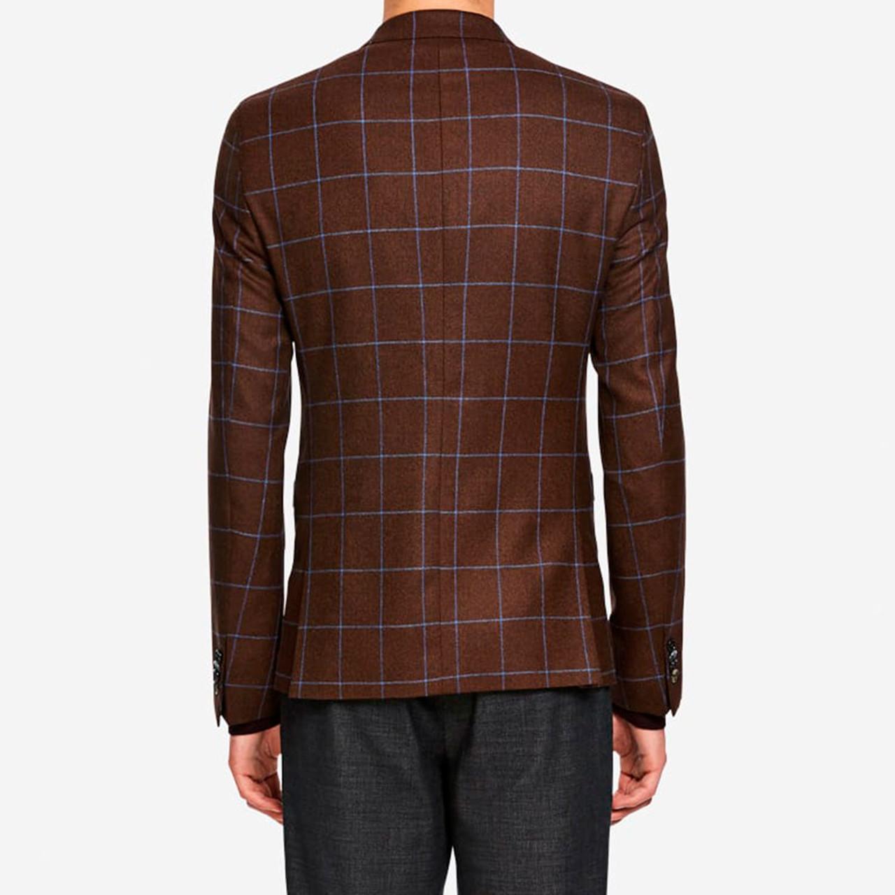 9a8d89f4 Window Blazer i brun tern fra SAND - Køb din blazer online her - Fri fragt!
