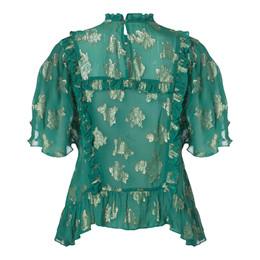 ff2eec0dfa4 Fine Cph Agnes grøn Top | Fri fragt | Fashiondeluxe.dk