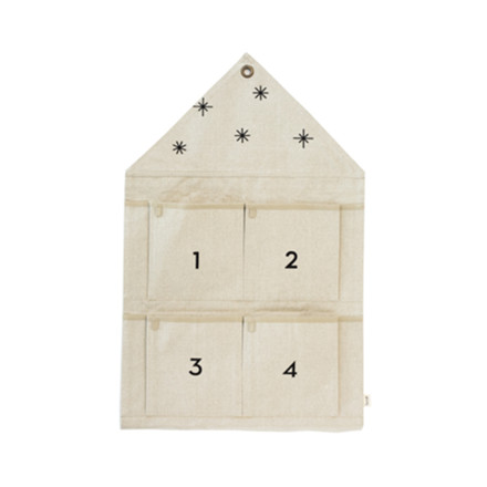 Ferm Living Star Advent Calendar Sand
