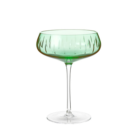Louise Roe Crystal Champagne Coupe Green