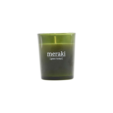 Meraki Scented Candle Green Herbal Small