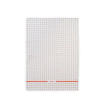 Normann Cph Ren Tea Towel Grid Sand/Spice Orange