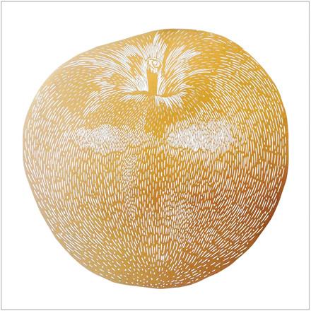 Monika Petersen Apple Gold Plakat