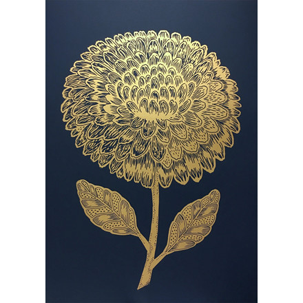 Monika Petersen Dahlia Gold/Indigo