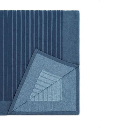 Normann Cph Slumber Bedcover Fading Stripes Dark Blue