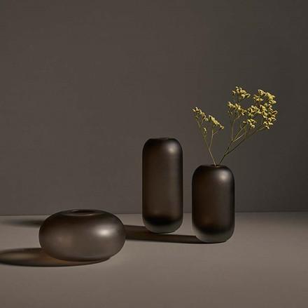 AYTM Hydria Glass Vase Walnut
