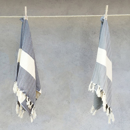 Algan Balik Gæstehåndklæde XS Grå