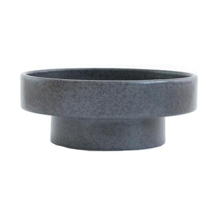Ania IDA Double Dish Dark Grey Dots