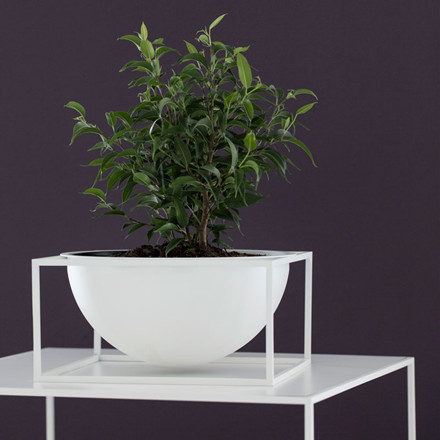By Lassen Kubus Bowl Centerpiece Large Hvid