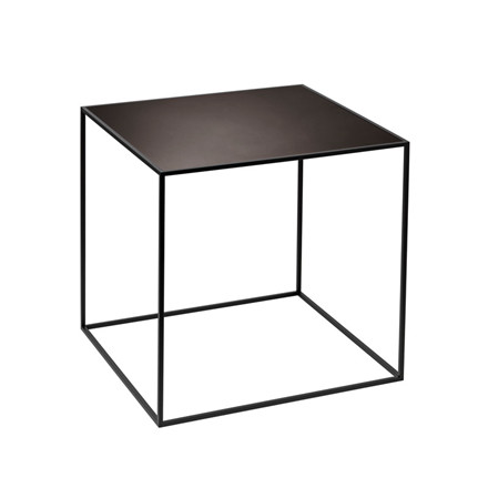 By Lassen Twin Table 35 black stained ash/burnished copper