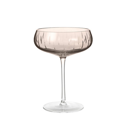 Louise Roe Crystal Champagne Coupe Smoke