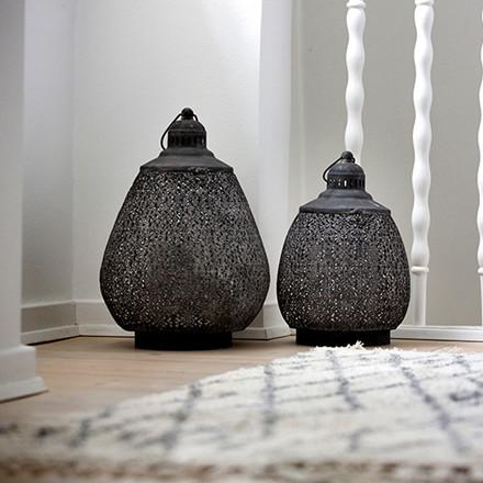 Cozy Room Drop Lantern Black