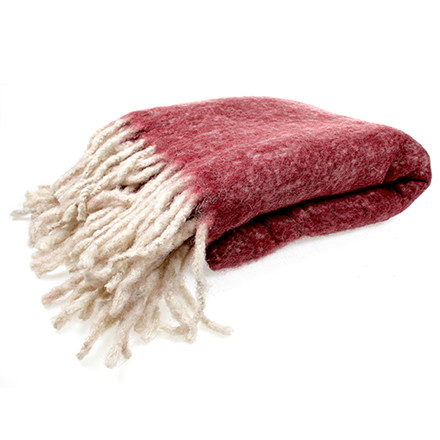 Cozy Room Wool Plaid Dark Red