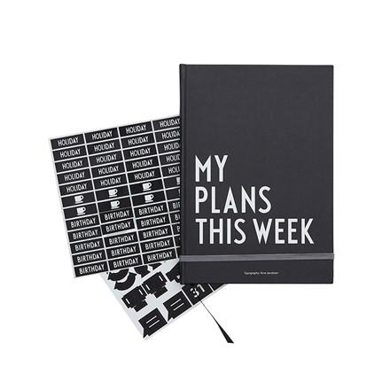 Design Letters My Plans This Week Black