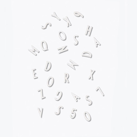 Design Letters Letter Box Small White