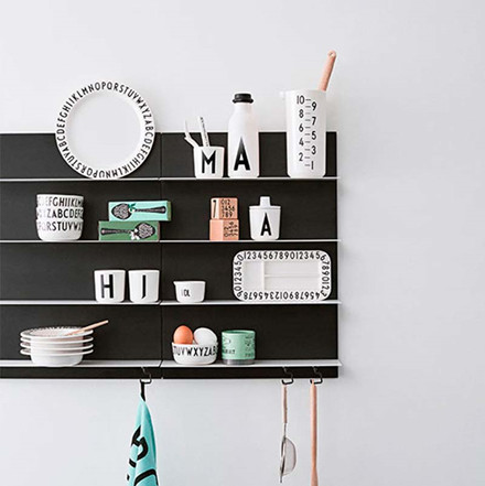 Design Letters Paper Shelf Black