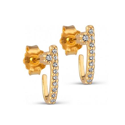Enamel Copenhagen Glorious Earrings Gold-Plated