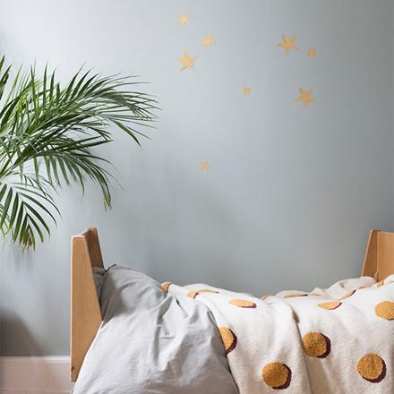 Ferm Living Mini Stars Wallsticker Brass