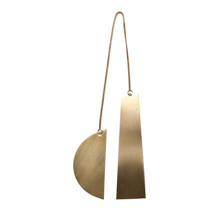 Ferm Living Half Moon Brass Ornament