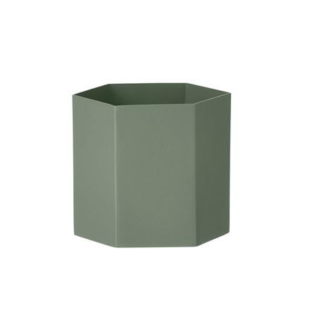 Ferm Living Hexagon Pot Dusty Green Large