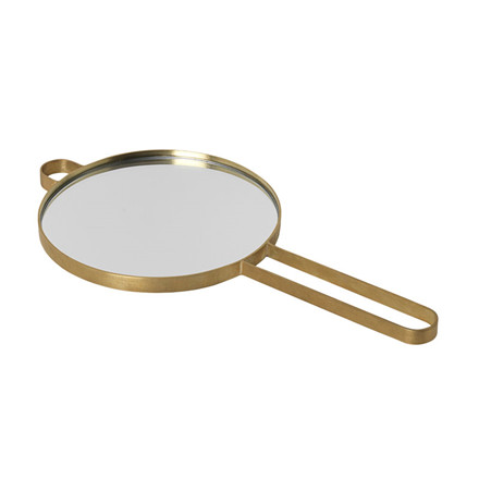 Ferm Living Poise Hand Mirror Brass
