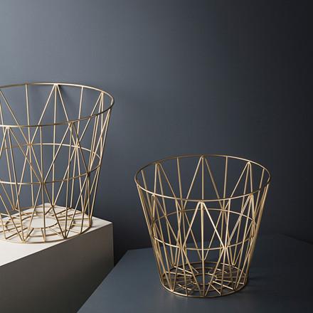 Ferm Living Wire Basket Brass