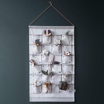 Ferm Living Christmas Calendar Grey