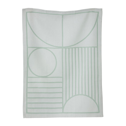 Ferm Living Outline Viskestykke Mint