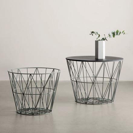 Ferm Living Wire Basket Top Sort Eg
