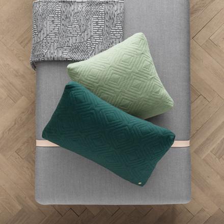 Ferm Living Quilt Cushion Dark Green 60 x 40