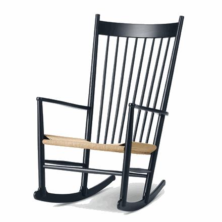 Fredericia Furniture J16 Gyngestol Sort Kampagne