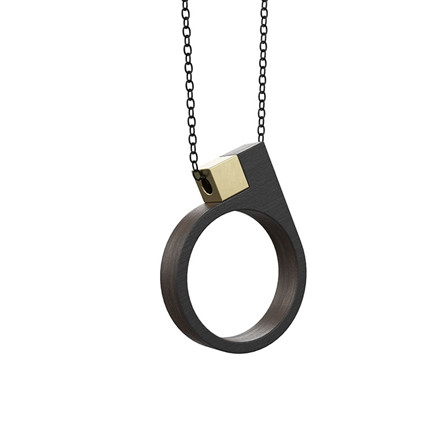 Grundled Kasus Necklace Black