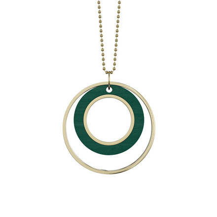 Grundled Tempus Necklace Green