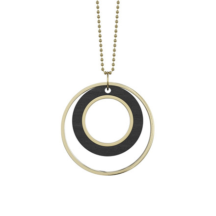 Grundled Tempus Necklace Black