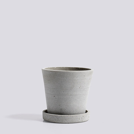 HAY Flowerpot With Saucer S Grey