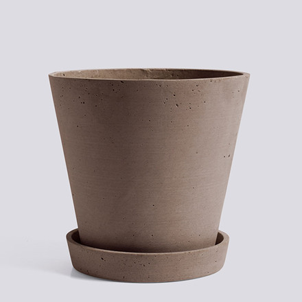 HAY Flowerpot With Saucer XL Terracotta