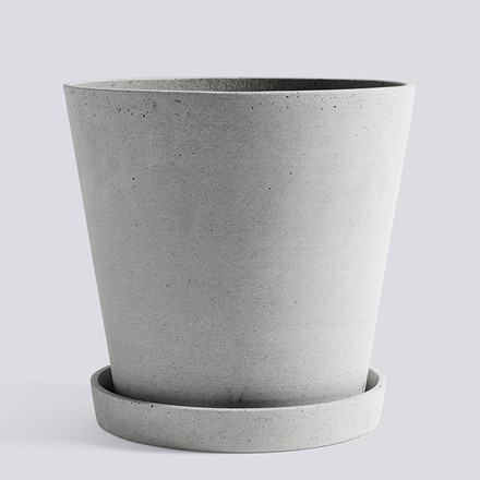 HAY Flowerpot With Saucer XXL Grey