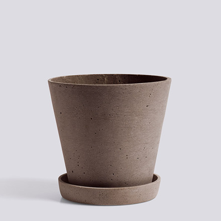HAY Flowerpot With Saucer L Terracotta