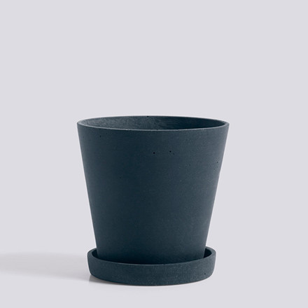HAY Flowerpot With Saucer M Dark Blue