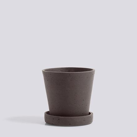 HAY Flowerpot With Saucer S Plum