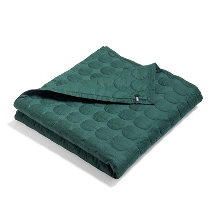 HAY Mega Dot Bed Cover Dark Green 195 x 245 cm