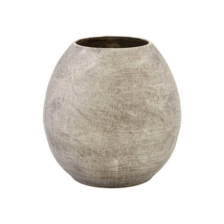 House Doctor Groove Vase Grey Large