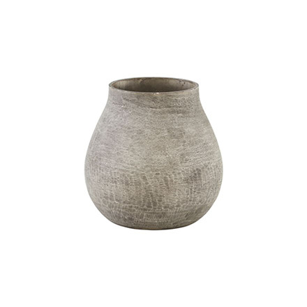 House Doctor Groove Vase Grey Small